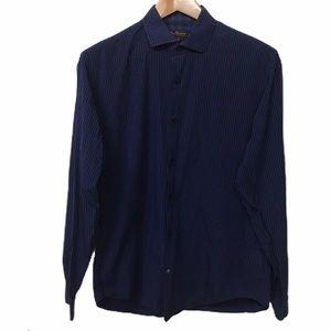 BEN SHERMAN Large Striped Button-Down Shirt